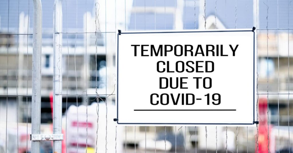 construction site closed due to COVID-19