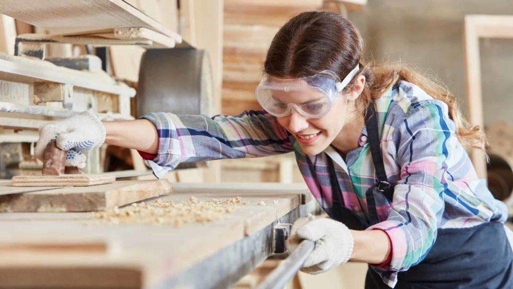 female builder on the job